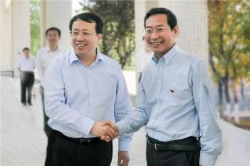 毕宏生院长向山东省省委副书记、省长龚正汇报工作