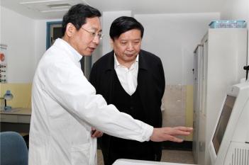 全国政协常务委员、人口资源环境委员会副主任、原山东省省长姜大明来我院视察工作