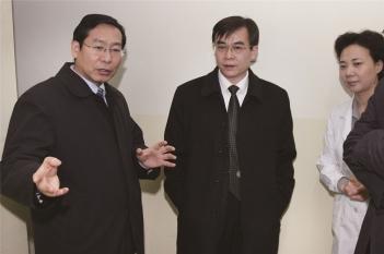 山东省委组织部副部长、省人社厅党组书记、厅长于富华来我院指导工作